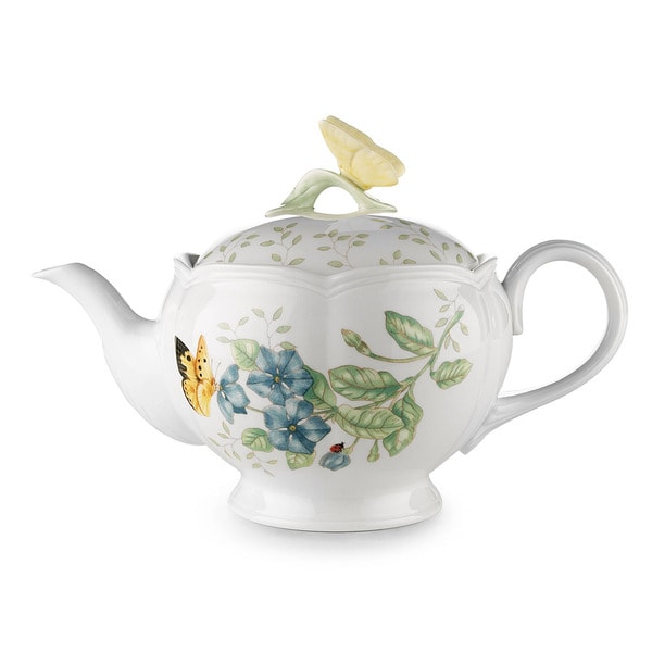 Shop Lenox Butterfly Meadow Teapot Free Shipping Today