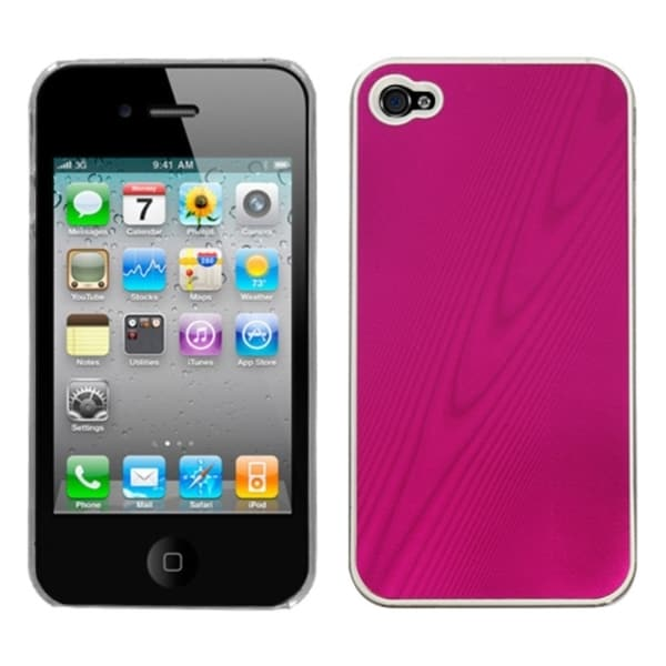INSTEN Hot Pink/ Cosmo Phone Case Cover for Apple iPhone 4S/ 4