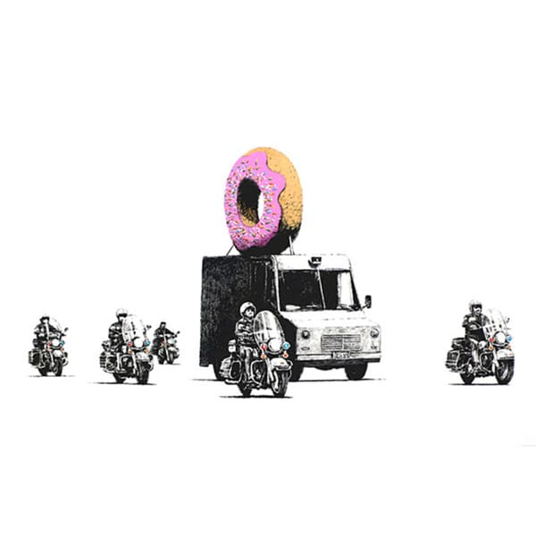 iCanvas Banksy 'Donut Police' Canvas Print Wall Art