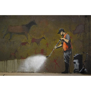 iCanvas Banksy 'Cave Painting' Canvas Print Wall Art