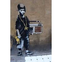 iCanvas Banksy 'Bboy' Canvas Print Wall Art