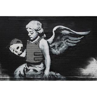 iCanvas Banksy 'Ozone's Bulletproof Angel' Canvas Print Wall Art
