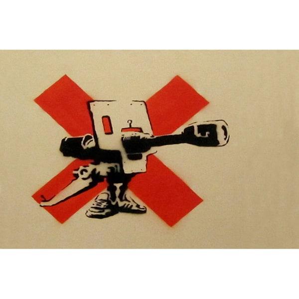 iCanvas Banksy \'Bad Meaning Good\' Canvas Print Wall Art - Free ...