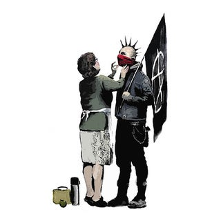 iCanvas Banksy 'Anarchist Punk And Mother Mum' Canvas Print Wall Art