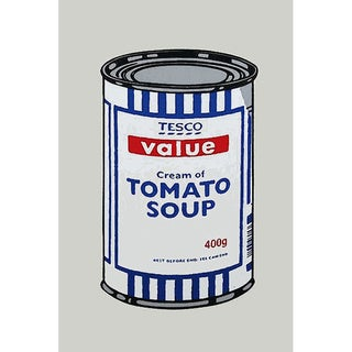 iCanvas Banksy 'Tesco Tomato Soup Can' Canvas Print Wall Art
