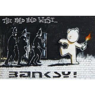 iCanvas Banksy 'Mild Mild West' Canvas Print Wall Art