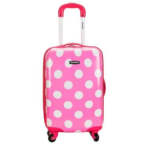 Rockland Pink Polka Dot 20-inch Lightweight Hardside Spinner Carry-on Luggage