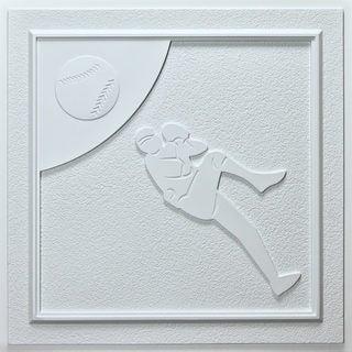 uDecor Baseball White 24-inch Ceiling Tiles (Pack of 10)