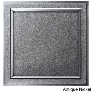 uDecor Terrace 24-inch Ceiling Tiles (Pack of 10) (Option: Antique Nickel)