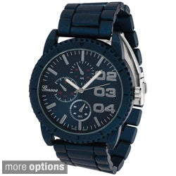 Geneva Platinum Men's Chronograph-style Metal Link Watch
