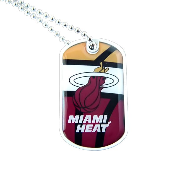 NBA Miami Heat Dynamic Dog Tag Necklace Charm Chain