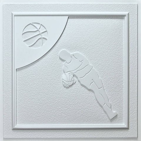 uDecor Basketball White 24-inch Ceiling Tiles (10 tiles)
