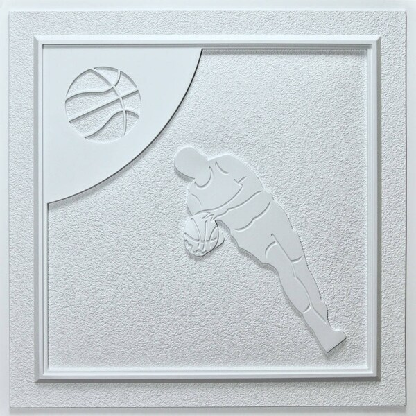 Udecor Basketball White 24 Inch Ceiling Tiles Pack Of 10 Free Shipping Today 15504376