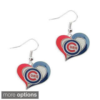 MLB Swirl Heart Shape Dangle logo Earring Set|https://ak1.ostkcdn.com/images/products/8164262/P15504382.jpg?impolicy=medium
