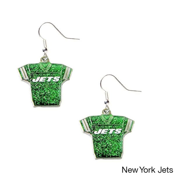 NFL Glitter Jerseys Sparkle Dangle Logo Earring Set