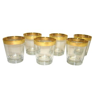 Gold Rim 6-Piece Tumbler Set