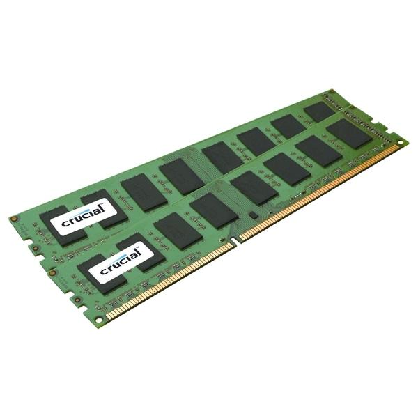 Crucial 16GB Kit (8GBx2), 240-pin DIMM, DDR3 PC3-12800 Memory Module