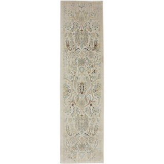 American Rug Craftsmen Serenity Sentiment Butter Pecan Rug (2'1 x 7'10)