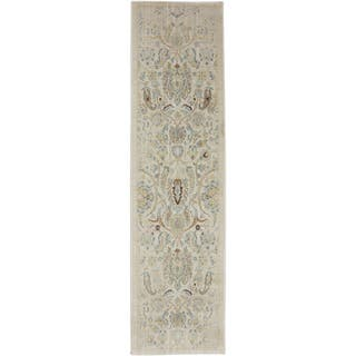 Mohawk Serenity Sentiment Butter Pecan Rug (2'1 x 7'10)|https://ak1.ostkcdn.com/images/products/8164395/8164395/American-Rug-Craftsmen-Serenity-Sentiment-Butter-Pecan-Rug-21-x-710-P15504482.jpg?impolicy=medium