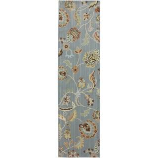 American Rug Craftsmen Serenity Sol Star Green Slate Rug (2'1 x 7'10)
