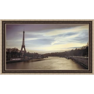 Assaf Frank 'Paris Sunset' Framed Print Art