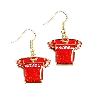NFL Atlanta Falcons Glitter Sparkle Dangle Logo Earrings