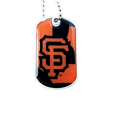 MLB San Francisco SF Giants Dynamic Dog Tag Necklace Charm Chain