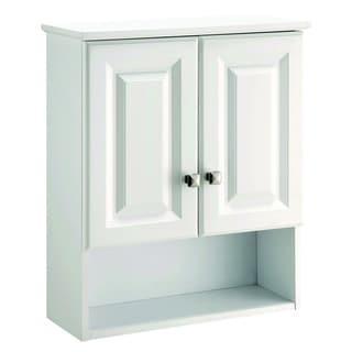 Attractive Design House Wyndham White Semi Gloss Wood Bathroom Wall Cabinet