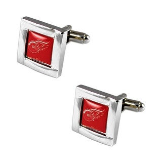 NHL 5/8-inch Square Cufflinks with Square Shape Logo Design Gift Box Set