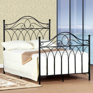 Queen-size Black Headboard and Footboard Set