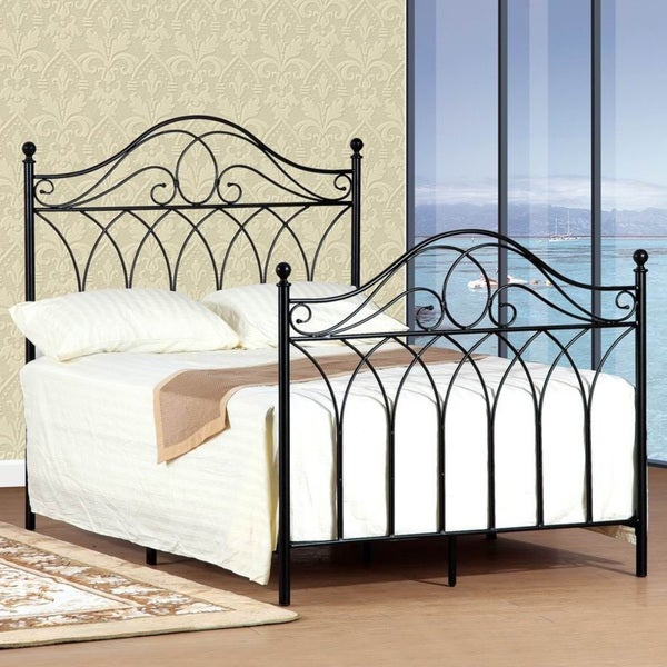 queensize black headboard and footboard set