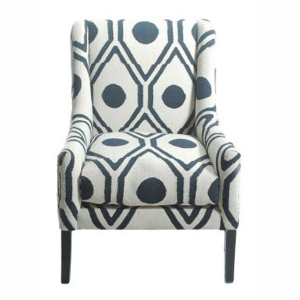 nuLOOM Contemporary Trellis Cotton Blue Accent Arm ChairFree