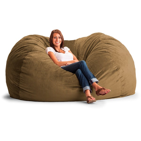FufSack Wide Wale Corduroy 7-foot XXL Bean Bag Chair - Free Shipping Today - - Xxl Bean Bag Chair Woodworking Plans