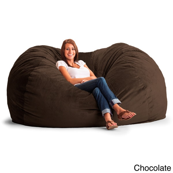 Fufsack Wide Wale Corduroy 7 Foot L Bean Bag Chair