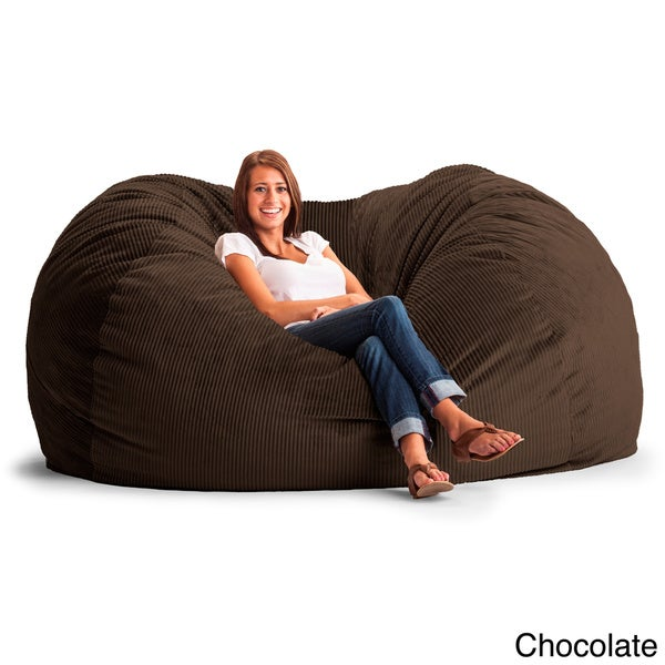 FufSack Wide Wale Corduroy 7 Foot XXL Bean Bag Chair