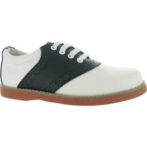 Girls' Academie Gear Cheer White and Black Saddle Shoes