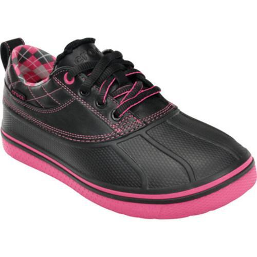 ed10b6e98 Shop Women s Crocs AllCast Duck Golf Shoe Black Hot Pink - Free ...