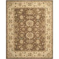 Safavieh Handmade Anatolia Treasure Oriental Brown/ Beige Hand-spun Wool Rug - 9'6 x 13'6