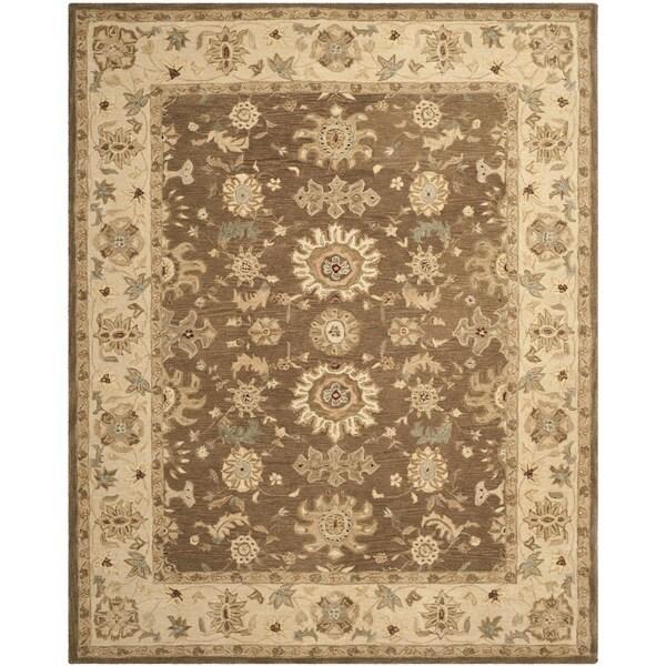 Safavieh Handmade Anatolia Treasure Oriental Brown/ Beige Hand-spun Wool Rug (9'6 x 13'6)