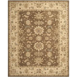 Safavieh Handmade Anatolia Treasure Oriental Brown/ Beige Hand-spun Wool Rug (8' x 10')