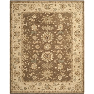 Safavieh Handmade Anatolia Treasure Oriental Brown/ Beige Hand-spun Wool Rug (9' x 12')