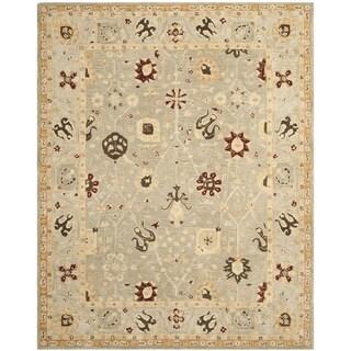 Safavieh Handmade Anatolia Oriental Taupe/ Beige Hand-spun Wool Rug (8' x 10')