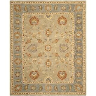 Safavieh Handmade Anatolia Oriental Taupe/ Grey Hand-spun Wool Rug (8' x 10')