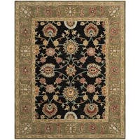 Safavieh Handmade Anatolia Oriental Black/ Green Hand-spun Wool Rug - 8' x 10'