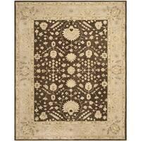 Safavieh Handmade Anatolia Oriental Chocolate/ Ivory Hand-spun Wool Rug - 8' x 10'