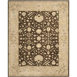Safavieh Handmade Anatolia Oriental Chocolate/ Ivory Hand-spun Wool Rug (9' x 12')