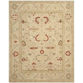 Safavieh Handmade Anatolia Elegance Oriental Traditional Beige Hand-spun Wool Rug (8' x 10')