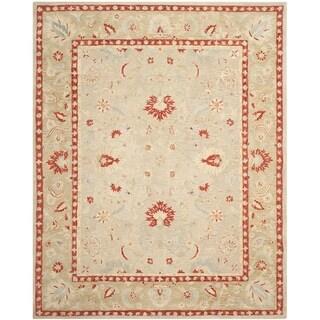 Safavieh Handmade Anatolia Oriental Ivory/ Green Hand-spun Wool Rug (9'6 x 13'6)