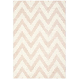 Safavieh Handmade Moroccan Cambridge Light Pink/ Ivory Wool Rug (3' x 5')