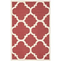 Safavieh Handmade Moroccan Cambridge Rust/ Ivory Wool Rug - 3' x 5'